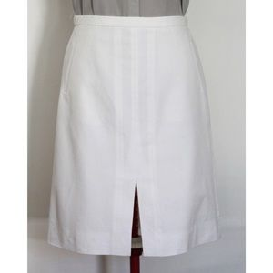 NWOT J. Crew A-line Bi-stretch Cotton Skirt, White